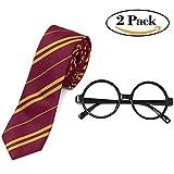 Best Disfraces Disfraz Disfraces de Halloween - De Harry Potter diseño de gafas y corbata Review