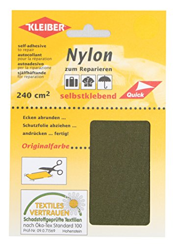 kleiber-self-adhesive-waterproof-nylon-repair-patches-olive-green
