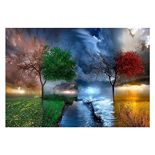 Vanpower Tree 5D Diamond Painting DIY Mosaic Needlework Cross Stitch Home Embroidery