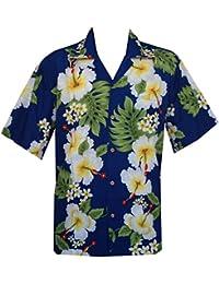 Diseño de flores de hibisco hawaiano camisas para hombre playa Party Aloha