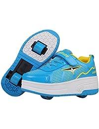 KE Los niños unisex de luz LED zapatillas de ruedas auto-párrafo Roller Skates Calzado Calzado deportivo
