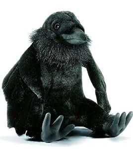 Anima - Peluche Corbeau Assis 24cm