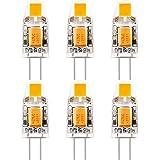 KINDEEP G4 1W COB LED Ampoule, 90LM, Consommés (Équivalent 10W Halogenlampen) Blanc Chaud 3000K, 360° angle de faisceau, Pack de 5
