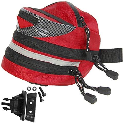 RUKEY Wasserdicht Wedge Pack Radfahren Sitzkissen Bag Satteltasche Tasche Mountain Road Fahrzeug Schwanz Falt Fahrrad Schwanz Tasche, Rot