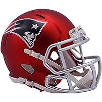 "Riddell ""New England Patriots Blaze Speed Casco, Rojo, Mini"