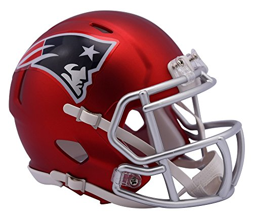"Riddell """" New England Patriots Blaze Speed Helm, rot, Mini"
