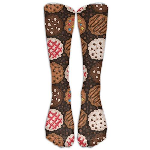 REordernow Men's/Women's Christmas Cookies Chocolate Chip Cookie Casual Crew Top Socks Socken