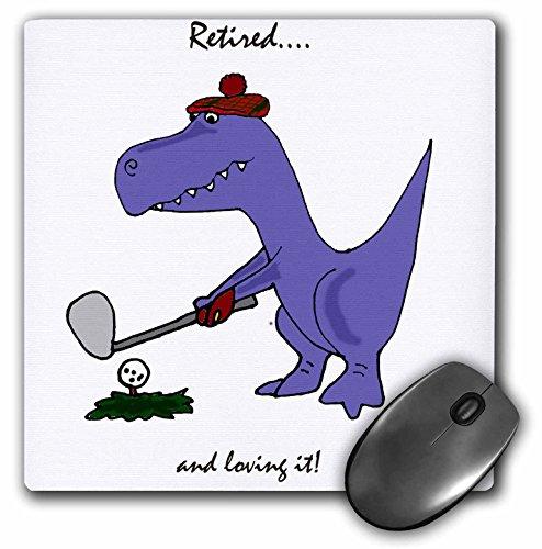 Funny Retired blau Trex Dinosaurier spielen Golf–Maus Pad, 8von 20,3cm (MP _ 203785_ 1)