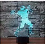 Creative Schlafzimmer Dekor Leuchte 3D American Football Tischlampe 7 Farbe Rugby Nachtlicht Led Baby Schlaf Nachtbeleuchtung Fans Geschenke