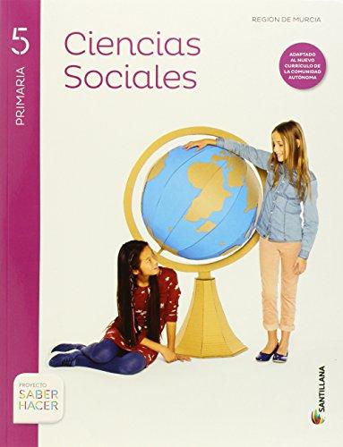 CIENCIAS SOCIALES + ATLAS MURCIA 5 PRIMARIA SANTILLANA - 9788468031576 por Aa.Vv.