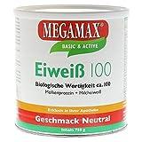 Megamax–eiweiss–Proteine di sugna di latte e proteine lácteas–Crescita Magra e dieta–valore biologico ca. 100–Neutro–750g