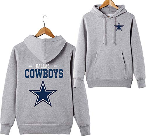 ZXTXGG Männer 3D Hoodies Dallas Cowboys NFL Football Team Uniform Muster Digitaldruck Liebhaber Kapuzenpullis(XXXL,Grau) - Männer Cowboys Für Sweatshirts Nfl
