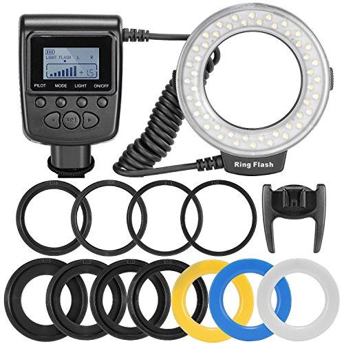 yeeteem-48-macro-led-ring-flash-light-rf-550d-includes-4-pcs-diffusers-and-8-pcs-adapter-ringsclear-