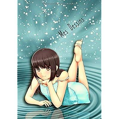 Mes Dessins: A4 - 100 pages de papier vierge - Journal d'artiste / Journal créatif / Bloc à dessin / Bloc-notes / Fille Rêverie - Manga / Anime