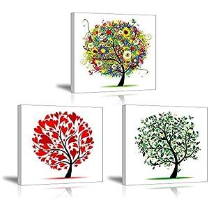 PIY Painting Wasserdicht Leinwandbild Grün Baum Blumen Pflanze Wandbild  Ölgemälde Bilder Und Kunstdrucke Auf Leinwand Für