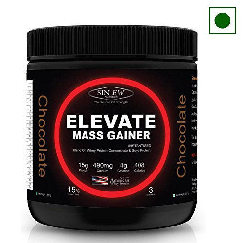 Sinew Nutrition Elevate Mass Gainer - 300 g /0.66 lbs (Chocolate Flavor)  available at amazon for Rs.299