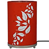 Craftter Flying Leaves Red And White Round Table Lamp
