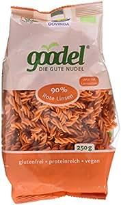 Govinda goodel rote Linsen Nudeln, 3er Pack (3 x 250 g)