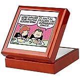 CafePress-Underground Comics-Boîte souvenir, finition en bois dur Boîte à bijoux, EN velours doublé Memento Box