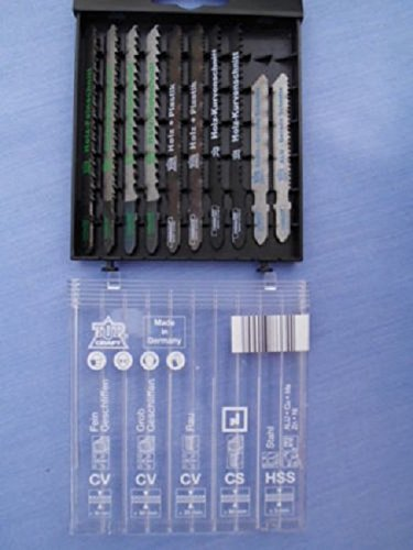 10-teiliges Stichsägeblatt-Set, T-Schaft, für Holz, Metall, Kunststoff,