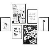 Heimlich Premium Poster Set   Stilvolles Set mit passenden Bilder als Wohnzimmer Deko   2 x DIN A3 & 4 x DIN A4 - ca. 30x40 & 20x30   Auch mit Bilderrahmen » All We Have is Now «