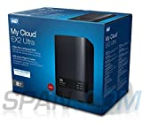 WD My Cloud EX Ultra 8TB 2-Bay Network Attached Storage 3.0 USB (Black)