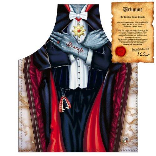 Kostüm grusel Schürze: Vampir Dracula - Karneval Fasching - Schürze one Size Fb bunt mit gratis Urkunde : ) (Dracula Vampir Kostüm)