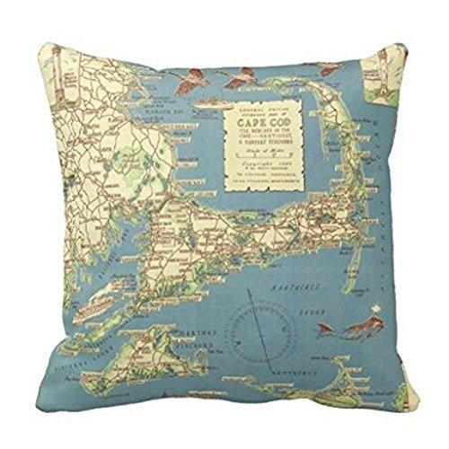 MIU-MIU Map Throw Pillow Case Cushion Cover Fashion Home Decorative Pillowcase Gift for Christmas 18x18.