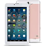 Padgene 7 Inch 8GB Tablets,Android 4.4.2 MTK6582 Quad Core 1.3GHz,2G/3G GSM Dual Camera,Dual Sim Bluetooth 3.0 Tablet PC Cellphone (Rose Gold)