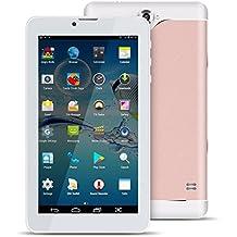 Kivors Tablet de 7 Pulgadas Super Delgado Android 4.4 Dual SIM Dual Standby, Quad Core 512MB RMB+8GB ROM, Dual Camara, WIFI ,Bluetooth GPS ,G-Sensor y Apoyo Multi-Idioma (Rosa Gold)