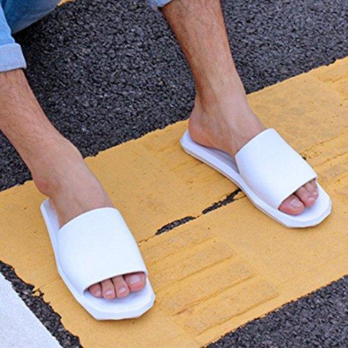 Webla Männer Innen-und Outdoor-Hausschuhe Soft Bottom Bad Hausschuhe Sandalen Schuhe Weiß
