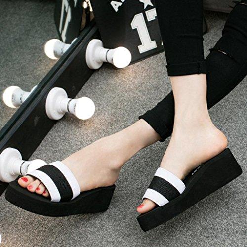 Webla Frauen-Sommer-Sandalen Slipper Indoor Outdoor Flip-Flops Strand-Schuhe A