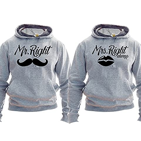 Mr Right Mrs Always right sweats Couple Hoodies Set 2 Partner Look Gift For Boyfriend Gift For Girlfriend