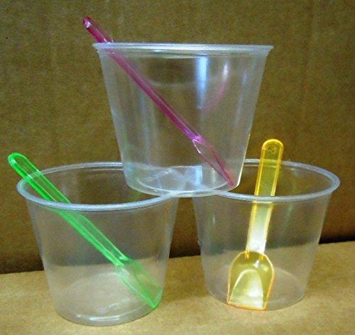 ptt-100-bicchierini-di-plastica-da-dessert-con-coperchi-e-palettine-capacit-150-ml