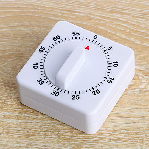 Home Cooking Tools Tragbares Spiel Training Mechanische 60 Minuten Küche quadratischer Alarm Up Timer Countdown