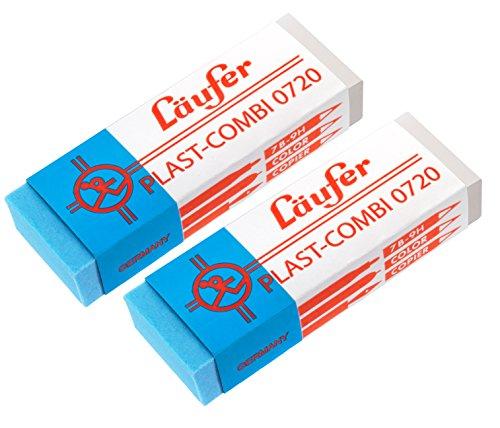 Läufer 69849 Plast Combi 0720 Radierer, für Bleistifte, Buntstifte und für Tinten und Tuschen,...