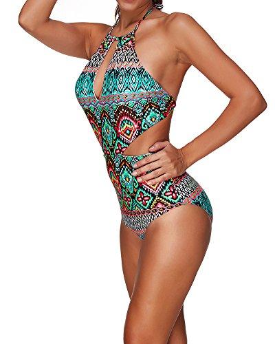 Donne Bikini da bagno Beachwear di Costume Monokini Push Up Swimwear Stile2