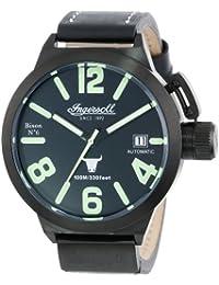 Ingersoll IN8900BBK - Reloj de caballero automático, correa de piel color negro