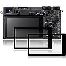 Protezioni dello schermo per Sony A6500, AFUNTA 2 Packs Anti-graffio pellicole protettive in vetro temperato per fotocamera digitale DSLR