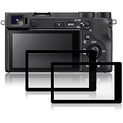 Films de Protection d'Ecran pour Sony A6500, AFUNTA Lot de 2 Protecteurs Imperméables en Verre Trempé Optique pour Caméra Digital DSLR