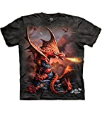 The Mountain Herren Fire Dragon T-Shirt, grau, X-Groß