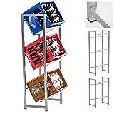 CLP Edelstahl-Getränkekistenständer LENNERT I Platzsparender Robuster Kistenständer für Getränkekisten I In Verschiedenen Größen erhältlich 116 x 47 x 31 cm (für 3 Kisten)