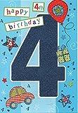 Kinder Geburtstagskarte für vier (4) Jahre alten Jungen–Kostenloser 1st Class Post (UK)