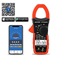 Digital Clamp Meter Bluetooth Multimeter AP-570C-APP 4000 Counts Auto Range AC/DC Voltage Current Resistance Capacitance Frequency Testing LCD Backlight