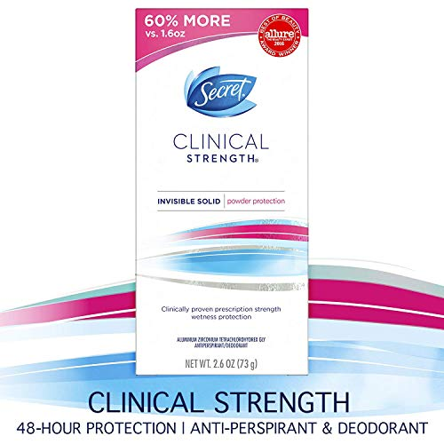 Secret Clinical Strength Invisible Solid Women's Antiperspirant & Deodorant Powder Protection Scent 2.6 Ounce by Secret -