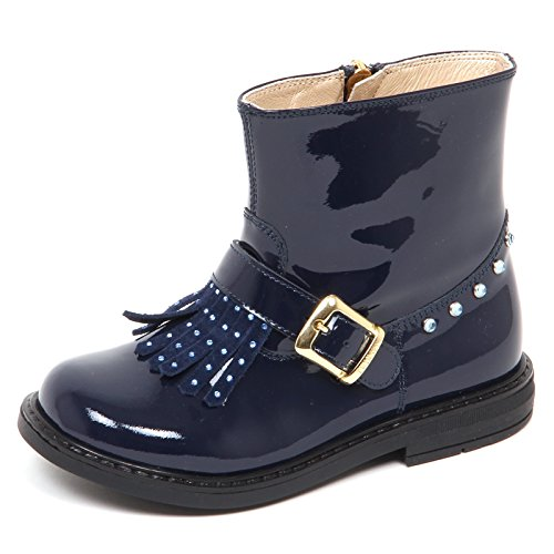 E1438 Stivaletto Bimba Blu Twin-Set Simona BARBIERI Patent Biker Boot Kid Girl [22]