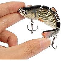 Kongnijiwa Señuelo de la Pesca Multi articulado de Vida como Swimbaits Crankbaits con 6# Gancho