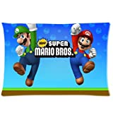 """Best Perfect Fit Oreillers - Super Mario Brothers Pillowcase Covers Standard Size 20""""x30"""" Review"""