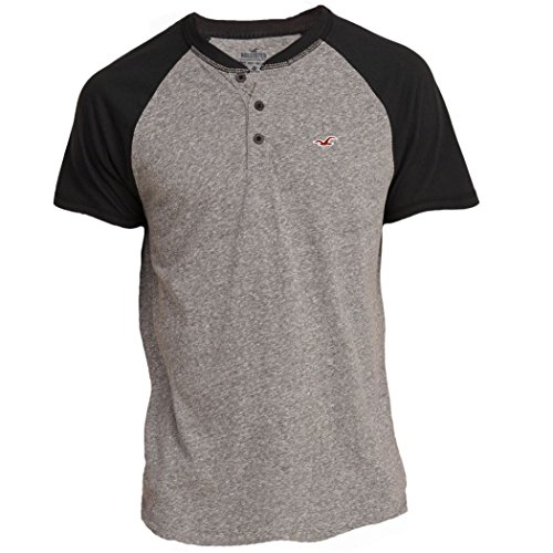 hollister-mens-must-have-slim-fit-colorblock-henley-tee-t-shirt-size-m-grey-626679060