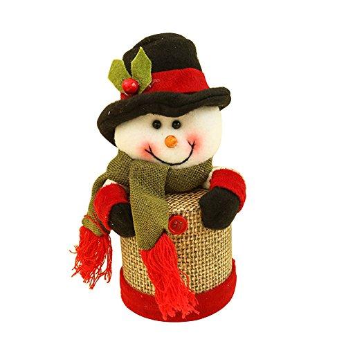 JUNGEN Boîte de Cadeau Noël Décorer Ornement Père Noël bonhomme de Neige Bonbons Sac